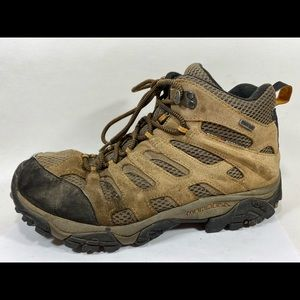Merrell Moab Mid Brown Hiking Boot Sz 10/44M